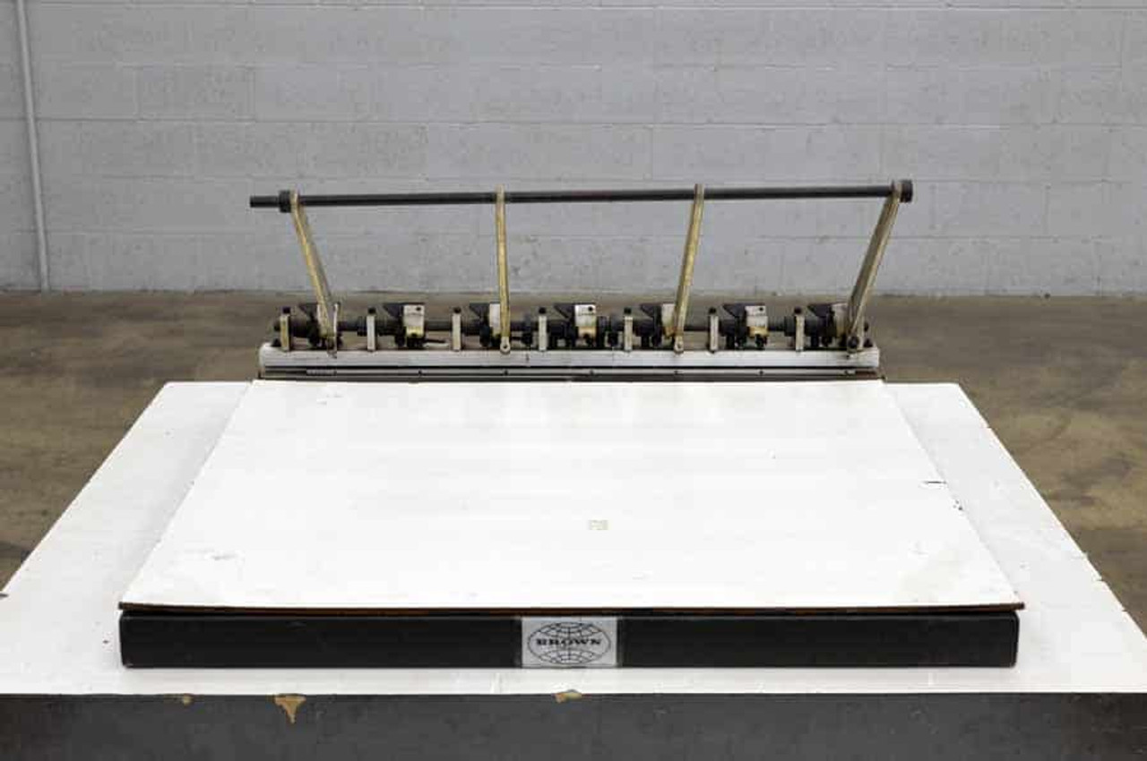 Brown Apeco S-30 Plate Punch