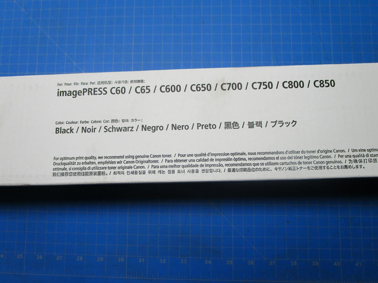 CANON 8066B001AA F429301001 F42-9301-001 T01 TONER CARTRIDGE BLACK C700 C800 P02-000992