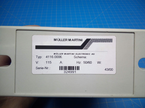 Muller Martini Motor Controller 00587B537 - P02-000087