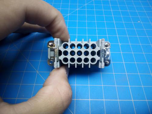 Harting 15 Pin Female Insert 09210153101 - P02-000179