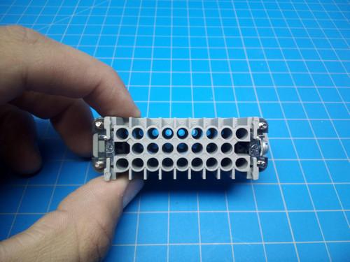 Harting 25 Pin Femaile Insert 09210253101 - P02-000234