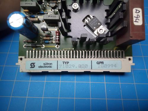 MBO Vacuum Control Circuit Board 71029.020 - P02-000237