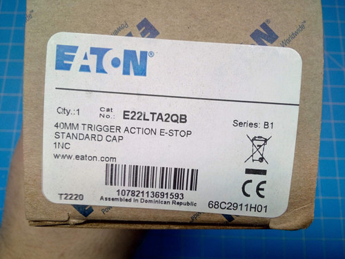 Eaton Emergency Stop Push Button E22LTA2QB - P01-000165