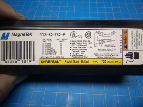 MagneTek Rapid Start Ballast 413-C-TC-P - P02-000408