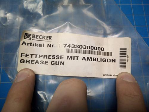 Becker Grease Gun 74330300000 -P02-000430
