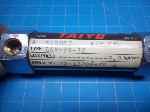 Taiyo Pneumatic Cylinder SAY-20-32 - P02-000467