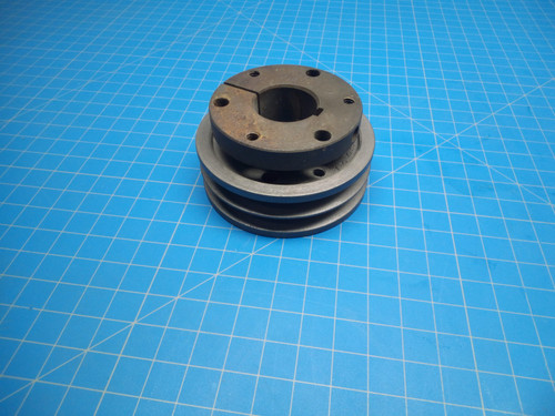 "Pulley 2-3V335-SH with 1 1/8"" SH Bushing 2.68"" Flange - P02-000481"