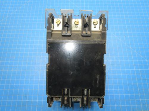 Fuji Electric Type BU-FHB 3 Pole 20 Amp 600 Volt Interrupting Circuit Breaker P02-000906