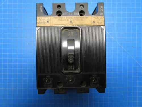 I-T-E  Type EE3 3 Pole 25 Amp 600 Volt Instant Trip Circuit Breaker P02-000912