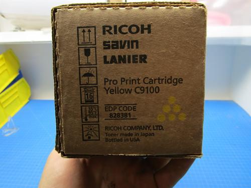 Ricoh Savin Lanier C9100 Yellow Pro Print Cartridge 828381 P02-000918