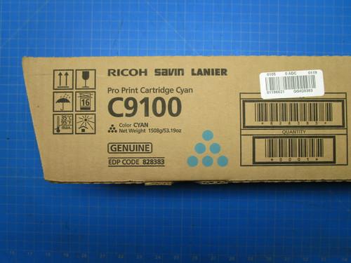 Ricoh Savin Lanier C9100 Cyan Pro Print Cartridge 828383 P02-000919