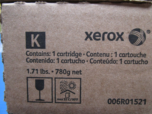XeroxToner Cartridge Black Color 550 560 570 Docucolor C60 C70 0006R01521 P02-000934