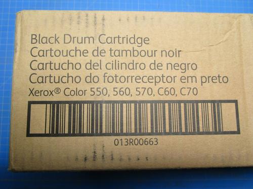 Xerox Color 550/ 560/ 570/ C60/ C70 Black Drum Cartridge, 013R00663 P02-000947