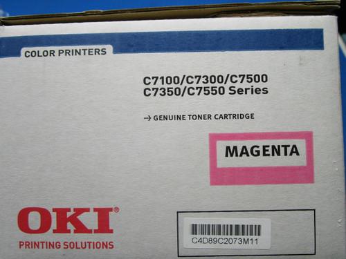 Okidata Magenta Toner C7100 C7300 C7350 C7500 C7550 41963002 P02-000949