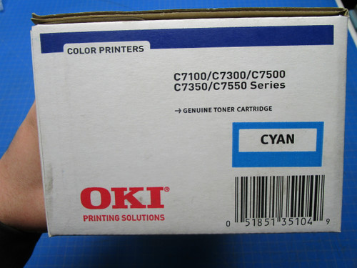 Okidata Cyan Toner C7300dxn, C7300n, C7350hdn, C7350n 41963003 P02-000951