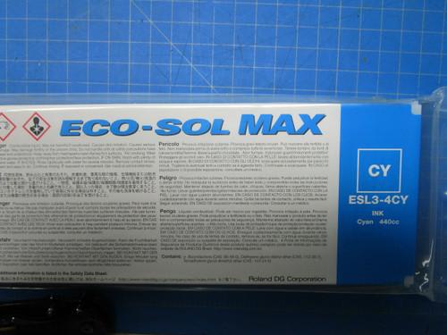 Roland Cyan Eco-Sol MAX Digital Ink- 440ml Cartridges ESL3-4CY P02-000955
