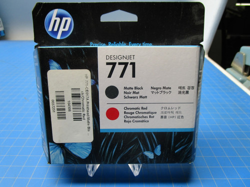 HP 771 Matte Black/Chromatic Red DesignJet Printhead, CE017A P02-000972