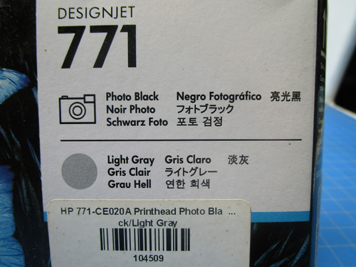HP 771 Photo Black/Light Gray DesignJet Printhead, CE020A P02-000975