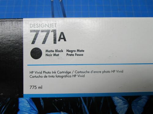 HP 771A 775-ml Matte Black DesignJet Ink Cartridge, B6Y15A P02-000977