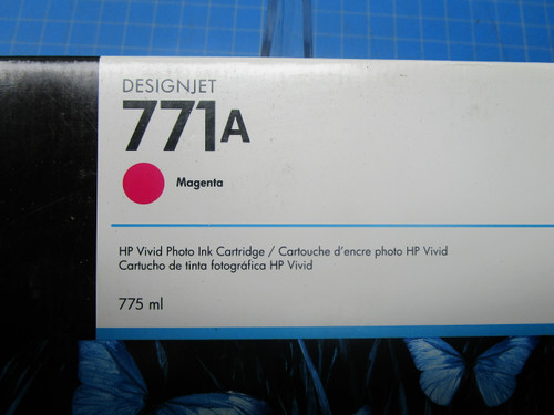 HP 771A 775-ml Magenta DesignJet Ink Cartridge, B6Y17A P02-000978