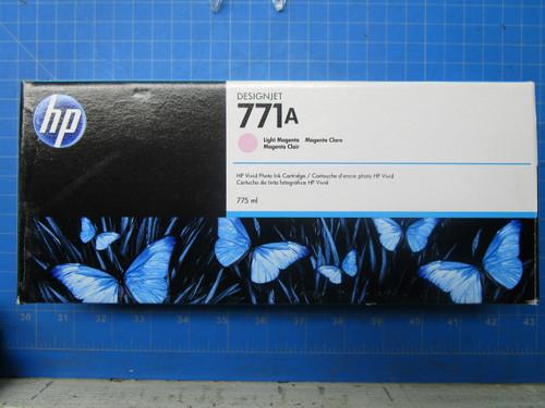HP 771A 775-ml Light Magenta DesignJet Ink Cartridge, B6Y19A P02-000979