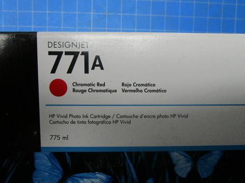 HP 771A 775-ml Chromatic Red DesignJet Ink Cartridge, B6Y16A P02-000980