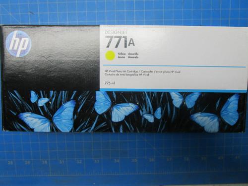 HP 771A 775-ml Yellow DesignJet Ink Cartridge, B6Y18A P02-000981