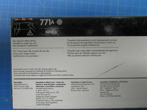 HP 771A 775-ml Light Gray DesignJet Ink Cartridge, B6Y22A P02-000983