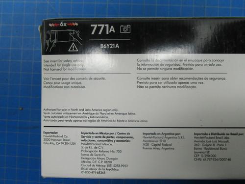 HP 771A 775-ml Photo Black DesignJet Ink Cartridge, B6Y21A P02-000984