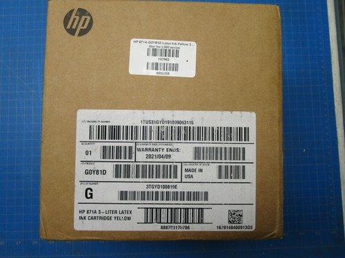 HP 871A 3-liter Yellow Latex Ink Cartridge (G0Y81D) P02-001004