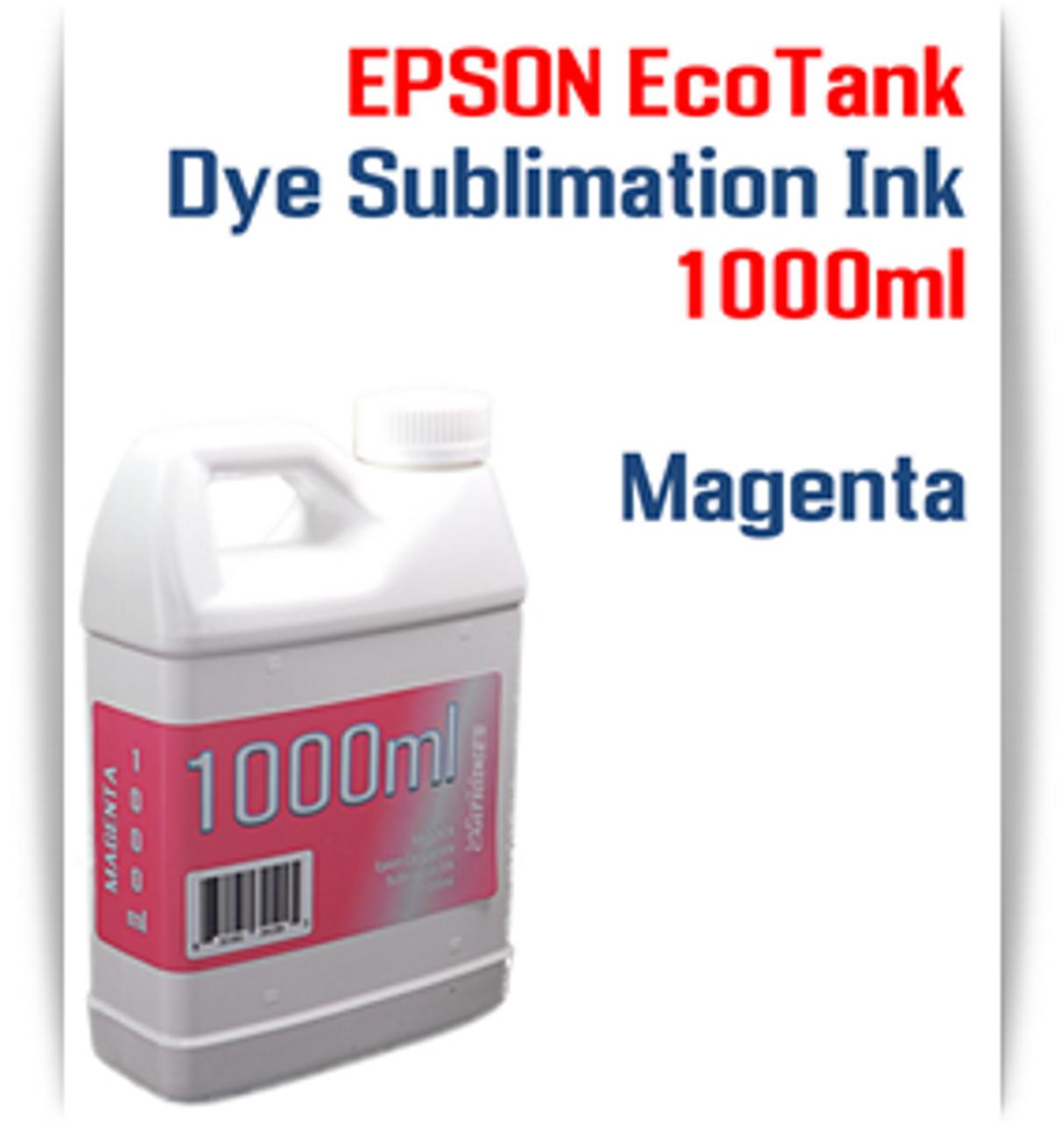 Magenta EPSON EcoTank printer Dye Sublimation Ink 1000ml bottle