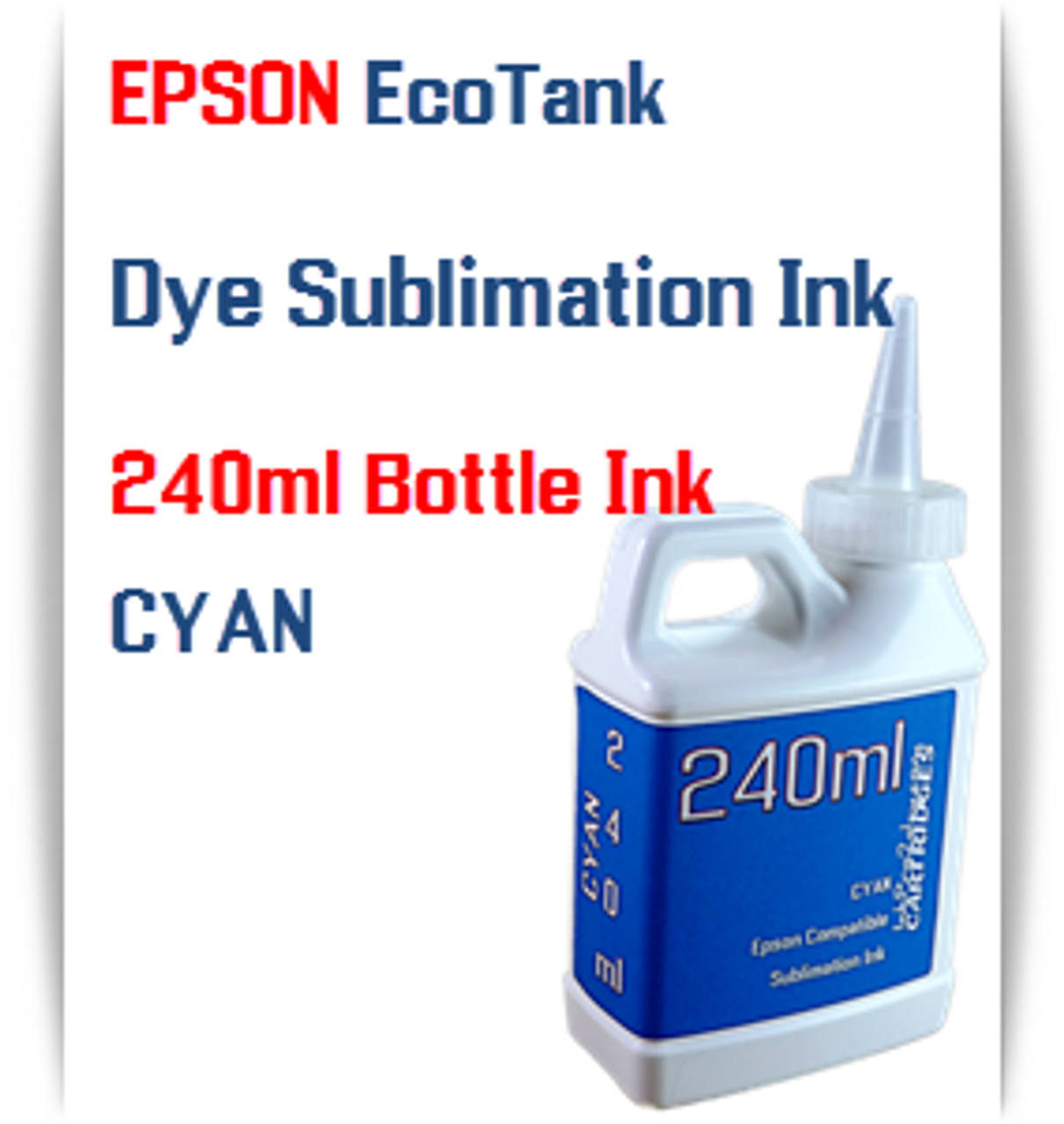4- 240ml bottles EPSON EcoTank ET-4500, ET-4550 Dye Sublimation Ink