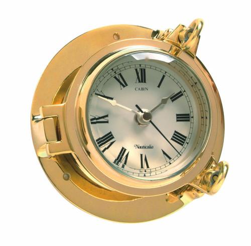 Cabin Clock Brass