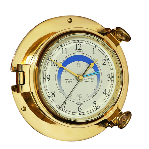 Cabin Tide Clock Brass