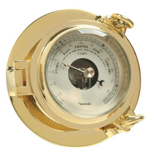Cabin Barometer Brass