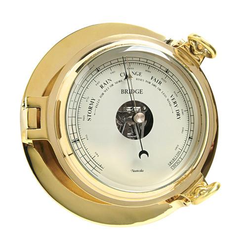 Bridge Barometer Brass