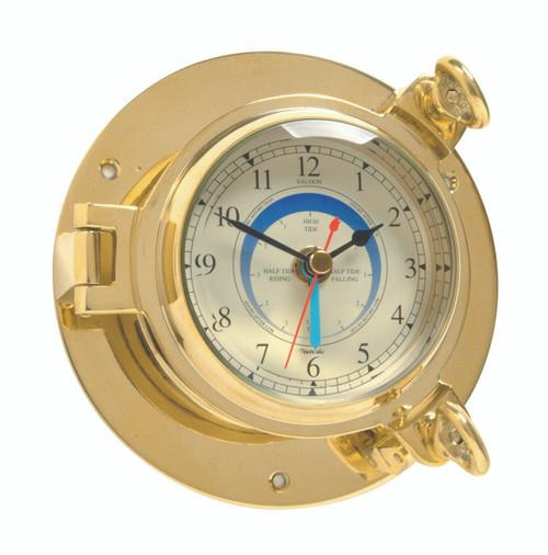 Saloon Tide Clock Brass