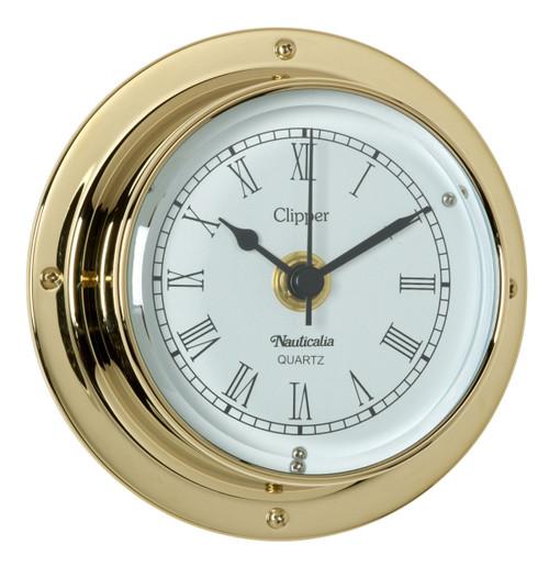 Clipper Clock Brass
