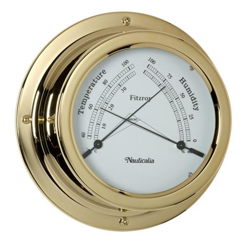 Fitzroy Thermometer/Hygrometer Brass