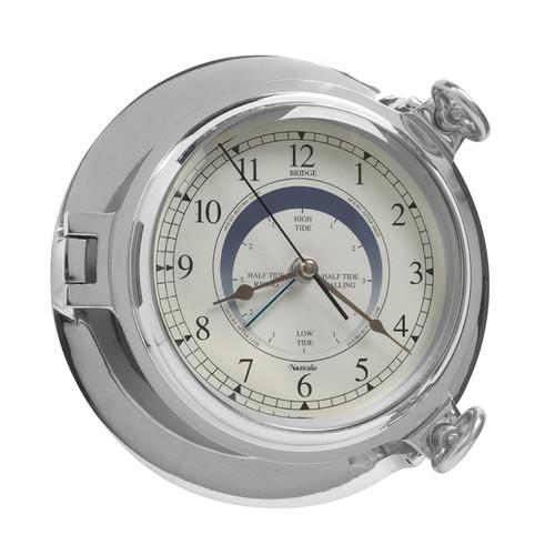 Bridge Tide Clock Chrome