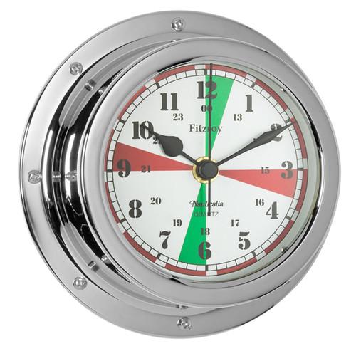 Fitzroy Radio Silence Clock Chrome