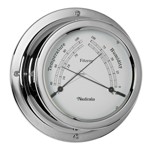 Fitzroy Thermometer/Hygrometer Chrome