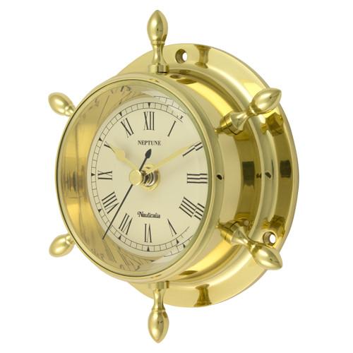 Neptune Clock Brass