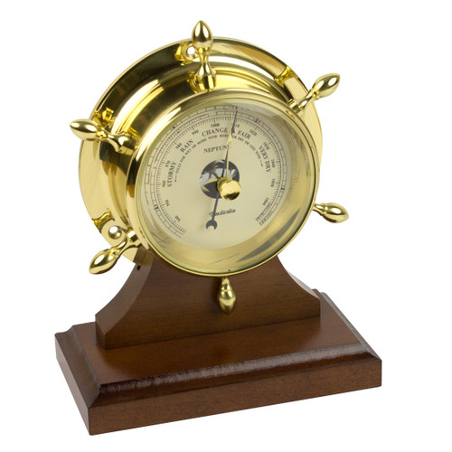 Neptune Barometer Brass with Plinth