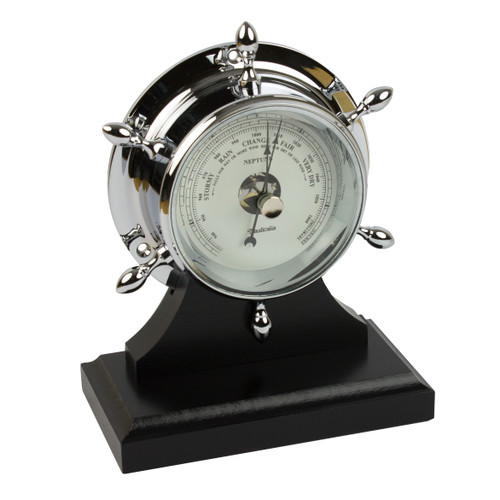 Neptune Barometer Chrome with Plinth
