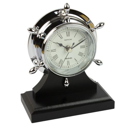 Neptune Clock Chrome with Plinth