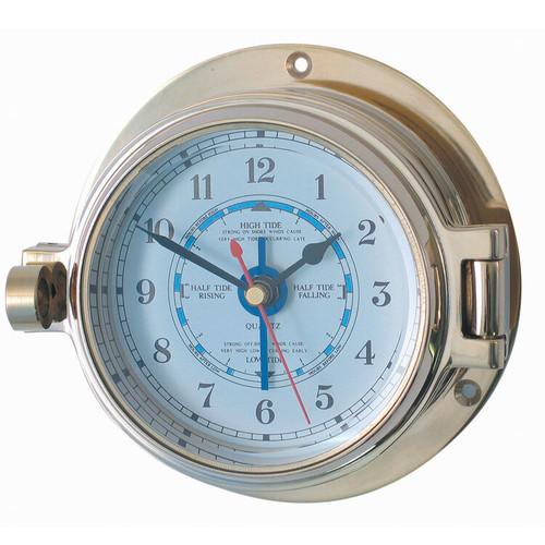 "Royal Mariner 3"" Brass Channel Tide Clock"