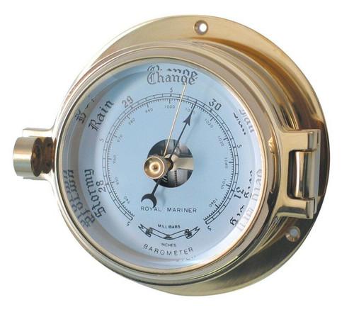 "Royal Mariner 3"" Brass Channel Barometer"