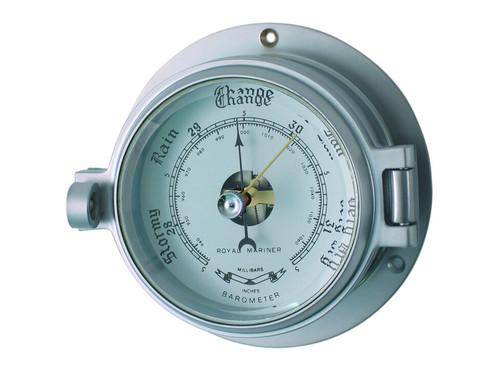 """Royal Mariner 3"""" Channel Matt Chrome Barometer"""