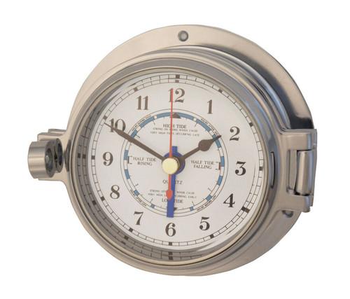 """Royal Mariner 3"""" Channel Polished Chrome Tide Clock"""